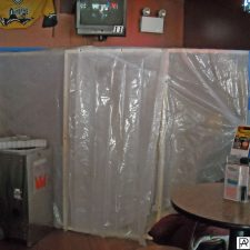 restaurant with plastic containing damage for business interruption in Warwick, Rhode Island