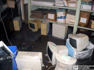 computers and files ruined from water damage business interruption in Providence, Rhode Island