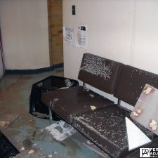 ceiling tiles fell from water damage business interruption in Warwick, Rhode Island
