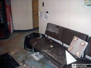ceiling tiles fell from water damage business interruption in Warwick, Rhode Island