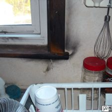 soot damage in Cranston, Rhode Island due to a kitchen fire