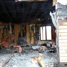 fire damage in Providence, Rhode Island due to a fireplace fire