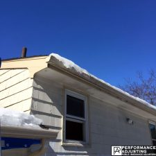 ice dam damage on roof in Providence, Rhode Island