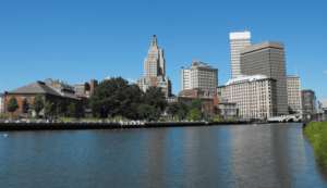 Riverside view of Providence Rhode Island