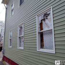 windows broken due to vandalism in Providence, Rhode Island