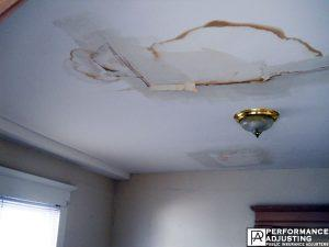 water damage in Providence, Rhode Island due to a roof leak