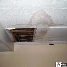 water damage in Warwick, Rhode Island due to a roof leak