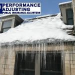 Leaking Roof ice dam damage in RI