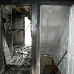 entrance to house that had fire and smoke damage