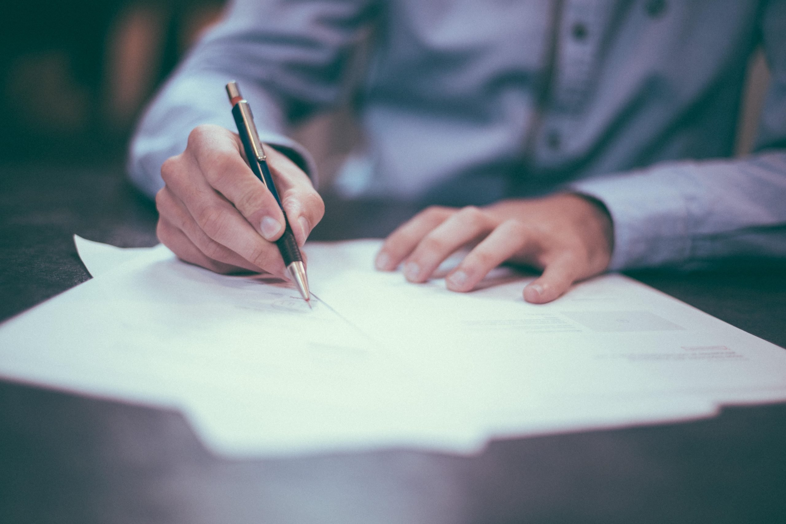 a person signing an insurance policy