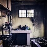 fire and smoke damage to kitchen in ri
