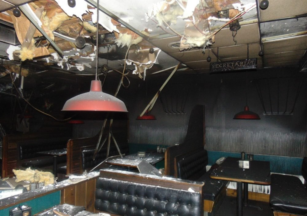 business interruption fire damage from riots in rhode island