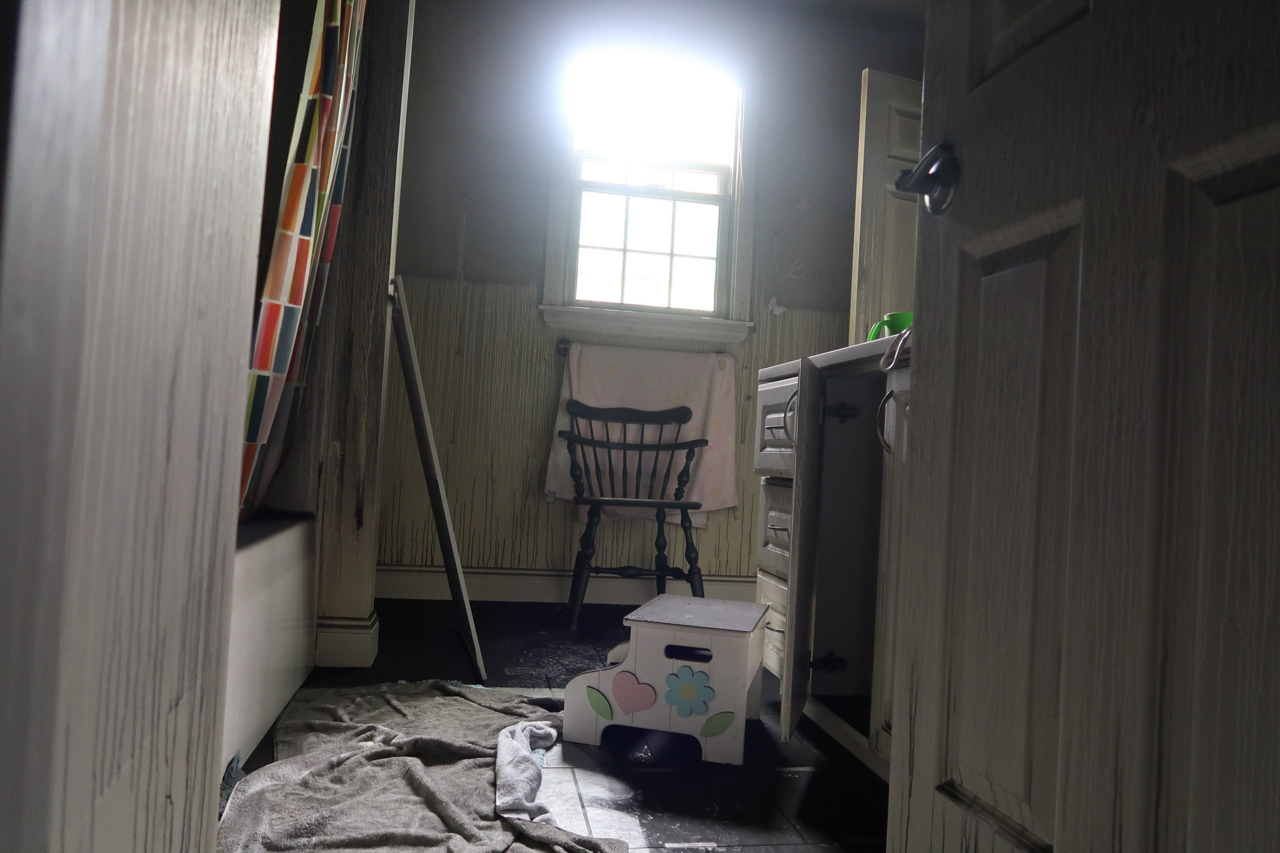 damaged contents after fire damage in ri