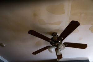 Water Damage Stains on ceiling, water damage restoration work in central falls, ri