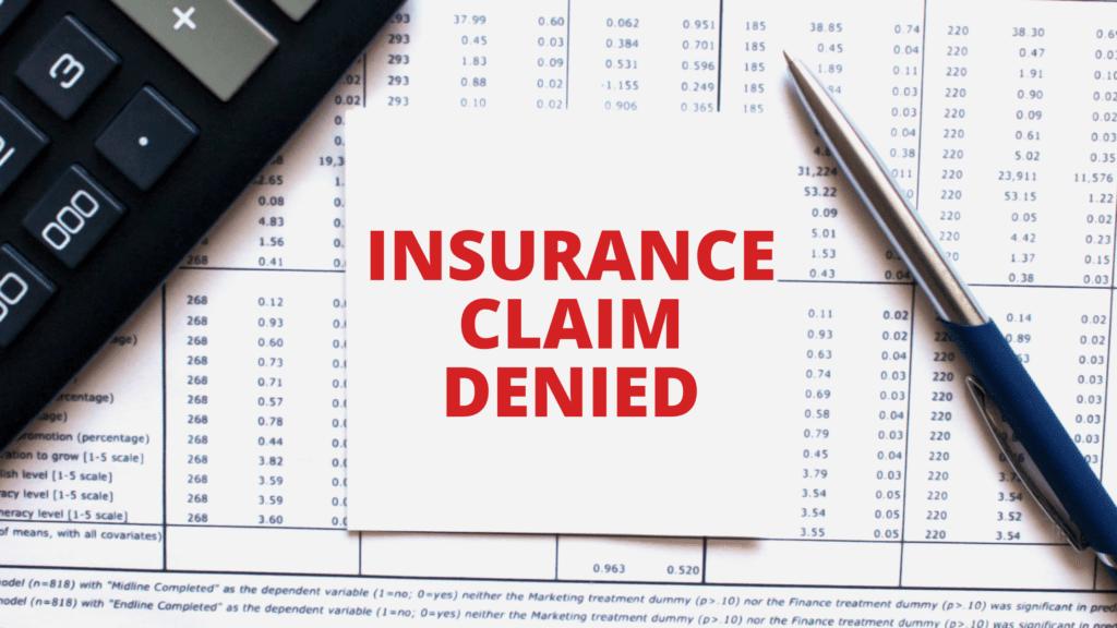 property damage insurance claim denied