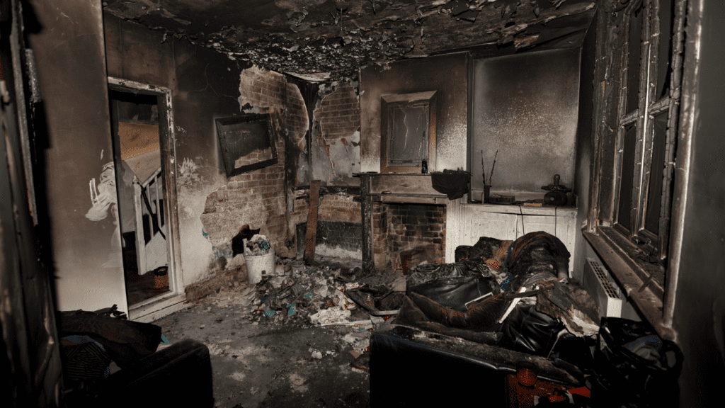 what to do if your house burns down in a fire