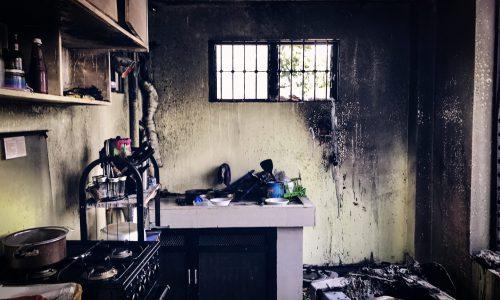 kitchen fire in central falls, rhode island